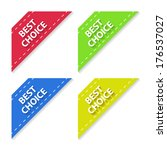 set of flat signs best choice.... | Shutterstock .eps vector #176537027