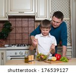 portrait of a father and his... | Shutterstock . vector #176539127