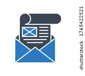 mailing related vector glyph... | Shutterstock .eps vector #1765422521