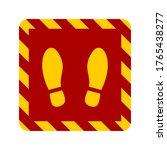 stand here or wait here floor...   Shutterstock .eps vector #1765438277