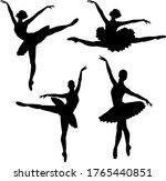 vector image of a ballerina's...   Shutterstock .eps vector #1765440851