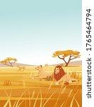 landscape savanna background... | Shutterstock .eps vector #1765464794