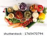 Preserves Vegetables In Glass...