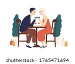 couple sit at table in... | Shutterstock .eps vector #1765471694