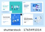set of web page design... | Shutterstock .eps vector #1765491014