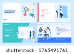 set of web page design... | Shutterstock .eps vector #1765491761