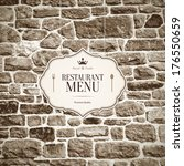 restaurant menu design | Shutterstock .eps vector #176550659