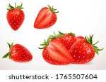 realistic strawberry in 3d...   Shutterstock .eps vector #1765507604