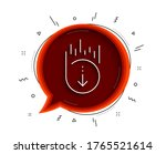 scroll down line icon. chat... | Shutterstock .eps vector #1765521614