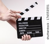 Film Or Movie Clapper In Woman...