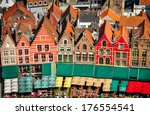 aerial view of colorful square... | Shutterstock . vector #176554541