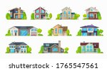 home houses  villa bungalows...   Shutterstock .eps vector #1765547561