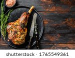 Bbq Roasted Goat Leg. Farm Meat....