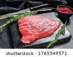 Flat Iron Steak. Raw Marble...
