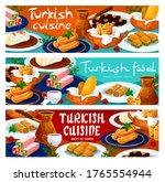 turkish cuisine food menu... | Shutterstock .eps vector #1765554944
