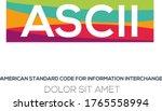 creative colorful logo   ascii...   Shutterstock .eps vector #1765558994