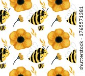 seamless illustration pattern...   Shutterstock . vector #1765571381