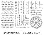hand drawn border and frame ... | Shutterstock .eps vector #1765574174
