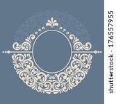 round floral frame.