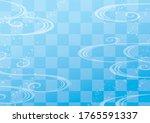 japanese wave pattern light blue   Shutterstock .eps vector #1765591337