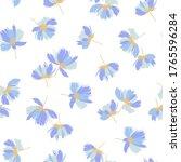 seamless pattern of a flower... | Shutterstock .eps vector #1765596284