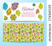 set of beautiful floral banners  | Shutterstock .eps vector #176560235
