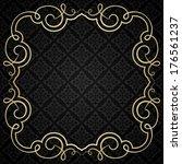 vintage calligraphic frame. | Shutterstock .eps vector #176561237