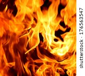 red fire and flames background | Shutterstock . vector #176563547