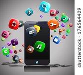 illustration of mart phone and... | Shutterstock .eps vector #176564429