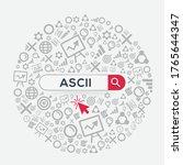 ascii mean  american standard...   Shutterstock .eps vector #1765644347