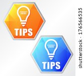 tips and bulb sign  two colors... | Shutterstock .eps vector #176566535