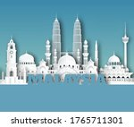 malaysia landmark global travel ... | Shutterstock .eps vector #1765711301