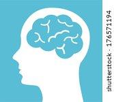 think design over blue... | Shutterstock .eps vector #176571194