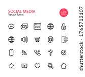 Social Media Line Icon Set....