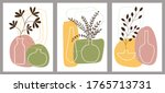 set of creative minimalist hand ... | Shutterstock .eps vector #1765713731