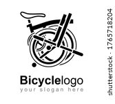 folding bike bicycle line logo...   Shutterstock .eps vector #1765718204