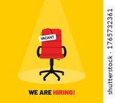 we are hiring  open vacancy.... | Shutterstock .eps vector #1765732361