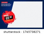 sale banner with place for your ... | Shutterstock .eps vector #1765738271