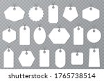 set of white blank tag labels... | Shutterstock .eps vector #1765738514