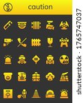 caution icon set. 26 filled... | Shutterstock .eps vector #1765747037
