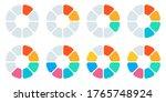 pie chart set. circle diagram... | Shutterstock .eps vector #1765748924