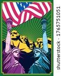 psychedelic liberty... | Shutterstock .eps vector #1765751051