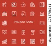 editable 22 project icons for... | Shutterstock .eps vector #1765756361