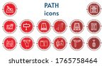 editable 14 path icons for web... | Shutterstock .eps vector #1765758464