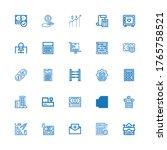 editable 25 calculator icons... | Shutterstock .eps vector #1765758521