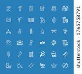editable 36 illness icons for... | Shutterstock .eps vector #1765758791