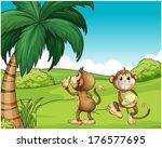 illustration of the two monkeys ...   Shutterstock .eps vector #176577695