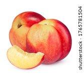 Nectarine Fruit Isolated On...