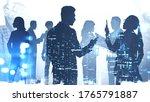 teamwork concept. silhouettes... | Shutterstock . vector #1765791887