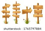 vector cartoon wooden rustic... | Shutterstock .eps vector #1765797884